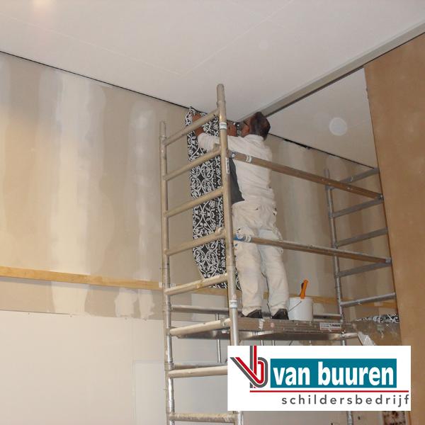 Schildersbedrijf van buuren behangen for Glasvlies behangen