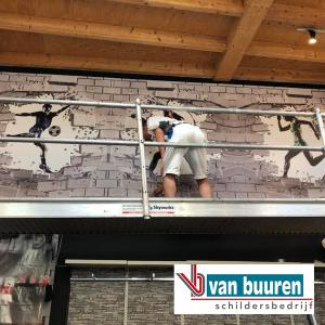 Behangen en schilderen, winkel Sport-inn Putten