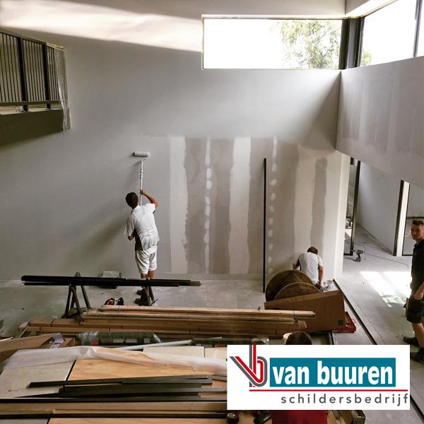 schilderen bedrijfspand Quiek familie fysio, Harderwijk