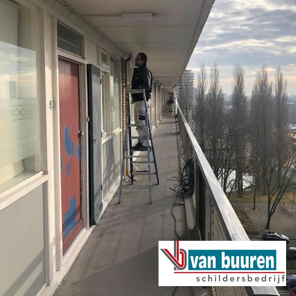 winterschilderen inclusief kleuradvies, galerijflat Utrecht